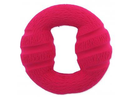Hračka DOG FANTASY latex červený kruh se zvukem 10 cm