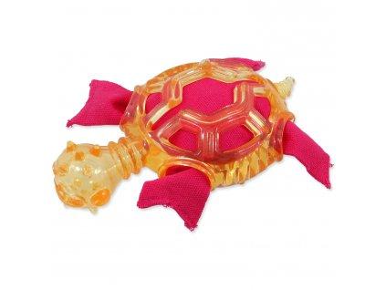 Hračka DOG FANTASY želva oranžová 16 cm