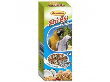 122 1 Avicentra tycinky s orechy a kokosem pro velke papousky 2 ks