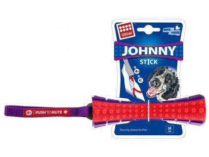 GiGwi Johnny stick aport se zvukem červeno purpurový