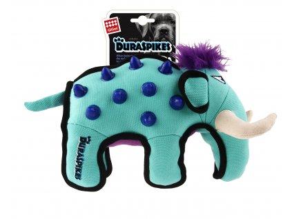 GiGwi Duraspikes textilní mamut světle modrý