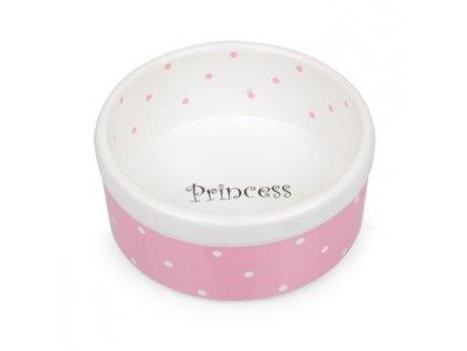 Keramická miska růžovo bílá Princess