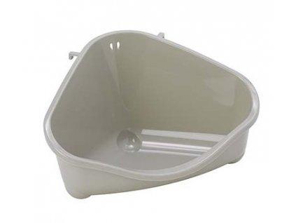 Rohová toaleta Pets Corner Tray S 18,3 cm šedá