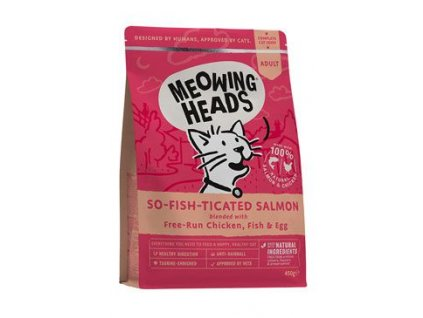 MEOWING HEADS So fish ticated Salmon 450 g
