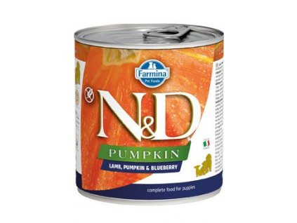 N&D DOG PUMPKIN Puppy Lamb & Blueberry 285 g
