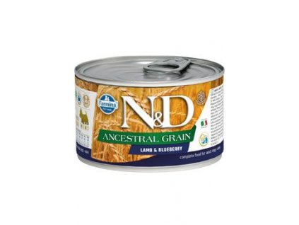 N&D DOG LOW GRAIN Adult Lamb & Blueberry Mini 140 g