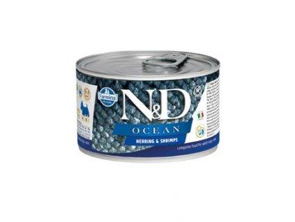 N&D DOG OCEAN Adult Herring & Shrimps Mini 140 g