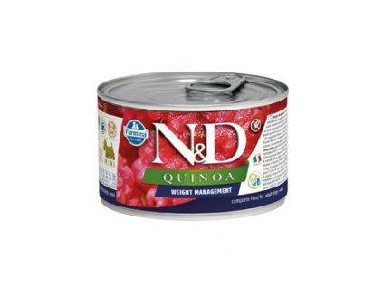N&D DOG QUINOA Adult Weight Management Lamb & Brocolli Mini 140 g