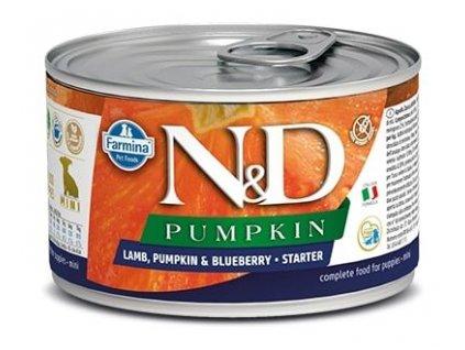 N&D DOG PUMPKIN Starter Lamb & Blueberry Mini 140 g