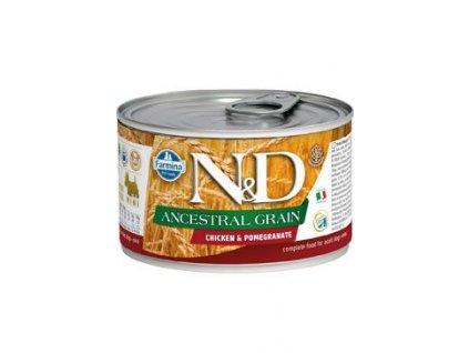 N&D DOG LOW GRAIN Adult Chicken &Pomegranate Mini 140 g