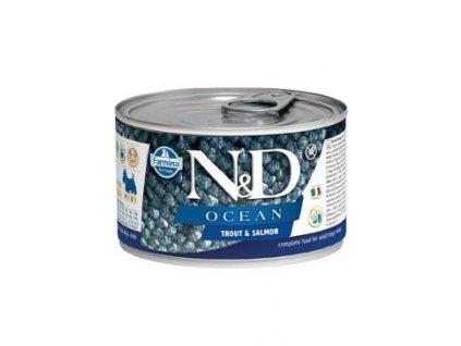 N&D DOG OCEAN Adult Trout & Salmon Mini 140 g