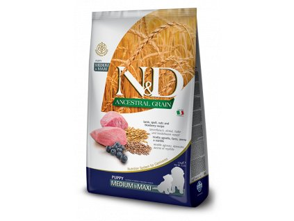 N&D Low Grain DOG Puppy M;L Lamb & Blueberry 12 kg