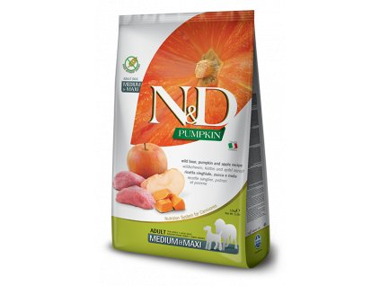 N&D Pumpkin DOG Adult M;L Boar & Apple 12 kg