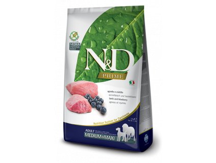 N&D PRIME DOG Adult M;L Lamb & Blueberry 12 kg