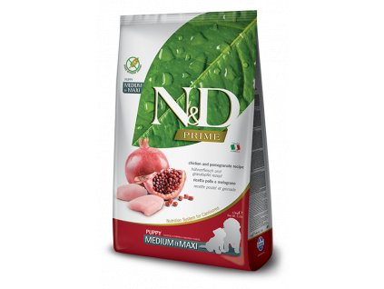N&D PRIME DOG Puppy M;L Chicken & Pomegranate 12 kg