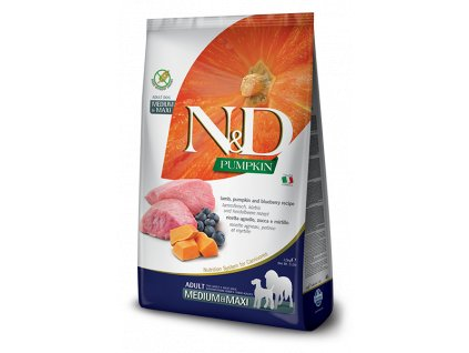 N&D Pumpkin DOG Adult M;L Lamb & Blueberry 12 kg