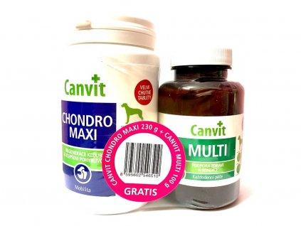 Canvit Chondro Maxi 230 g + Canvit Multi pro psy 100 g