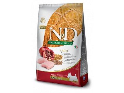 N&D Low Grain DOG Light Mini Chicken & Pomegranate 2,5 kg