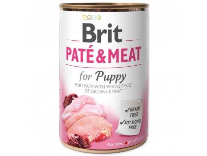 1361 brit konzerva pate meat puppy 400g
