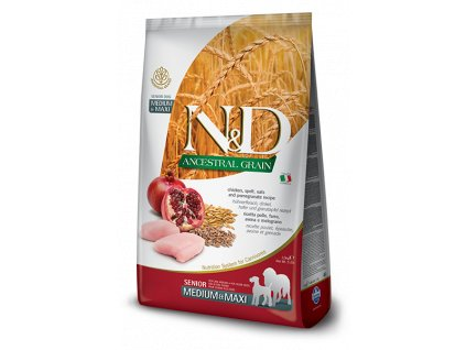 N&D Low Grain DOG Senior M;L Chicken & Pomegranate 2,5 kg