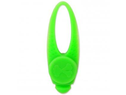 Přívěsek svítící Dog Fantasy LED silikon zelený 8 cm