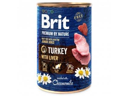 1418 1 brit premium by nature turkey with liver 400 g