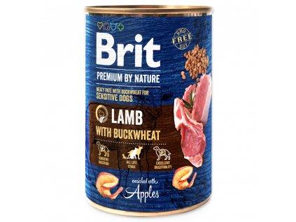 1421 1 brit premium by nature lamb with buckwheat 400 g