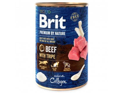 1424 1 brit premium by nature beef with tripe 400 g
