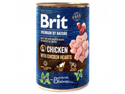 1427 1 brit premium by nature chicken with hearts 400 g