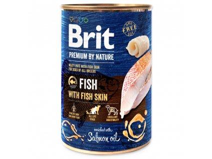 1433 1 brit premium by nature fish with fish skin 400 g