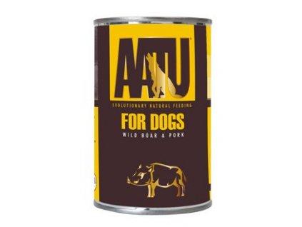 14543 aatu dog wild boar and pork konzerva 400 g