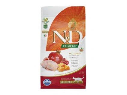 N&D Pumpkin CAT NEUTERED Quail & Pomegranate 5kg