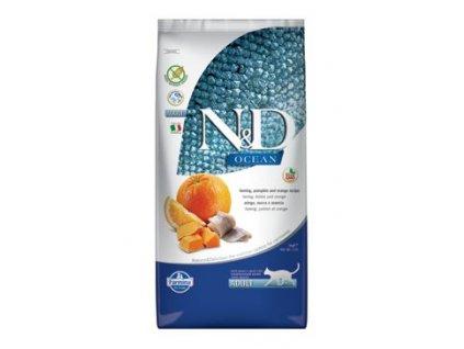N&D Ocean Cat Grain Free Adult Herring, Pumpkin & Orange 5 kg
