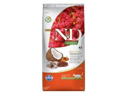 N&D Quinoa CAT Skin & Coat Herring & Coconut 5kg