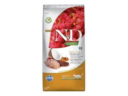 N&D Quinoa CAT Skin & Coat Quail & Coconut 5kg