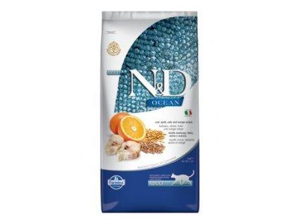 N&D Ocean Cat Low Grain Adult Codfish & Orange 10kg