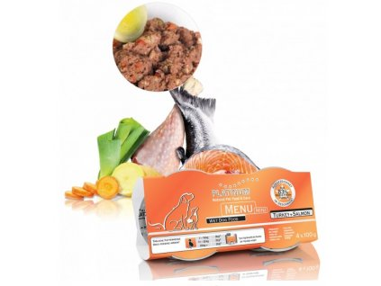 1472 1 platinum natural menu mini turkey salmon 4x100 g