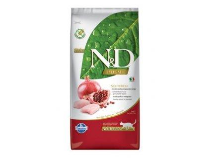 N&D PRIME CAT Neutered Chicken&Pomegranate 5kg