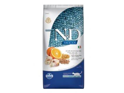 N&D Ocean Cat Low Grain Adult Codfish & Orange 5 kg