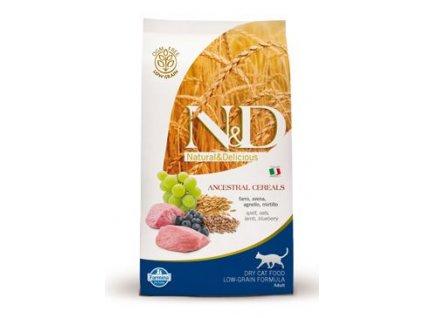 N&D Ancestral Grain Cat Adult Lamb & Blueberry 300 g