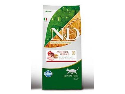 N&D Ancestral Grain Cat Adult Chicken & Pomegranate 10 kg