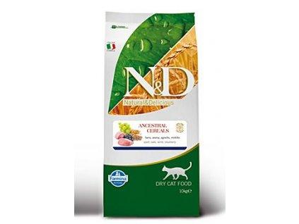 N&D Ancestral Grain Cat Adult Lamb & Blueberry 10 kg