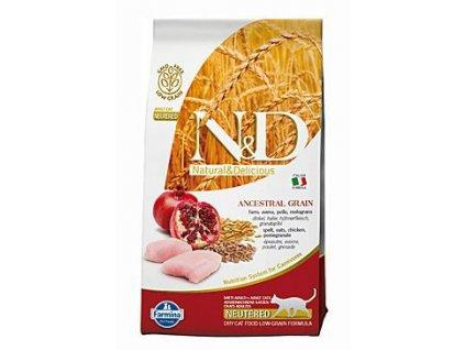 N&D Ancestral Grain Cat Neutered Chicken & Pomegranate 10 kg