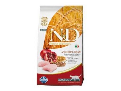 N&D Ancestral Grain Cat Adult Chicken & Pomegranate 5 kg