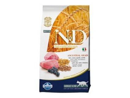 N&D Ancestral Grain Cat Adult Lamb & Blueberry 5 kg