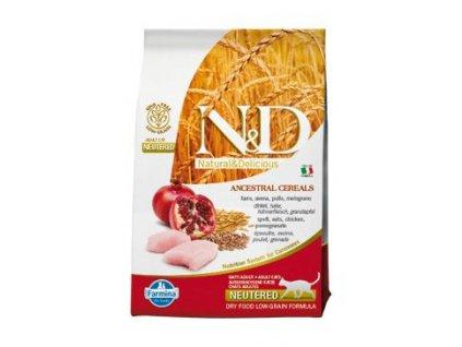 N&D Ancestral Grain Cat Neutered Chicken & Pomegranate 5 kg