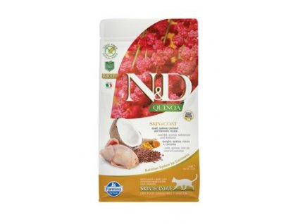 N&D Quinoa CAT Skin & Coat Quail & Coconut 1,5kg