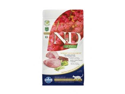 N&D Quinoa CAT Weight Management Lamb & Broccoli 1,5kg