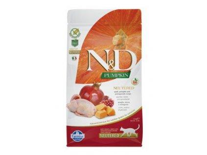 N&D GF Pumpkin Cat Neutered Quail & Pomegranate 300 g
