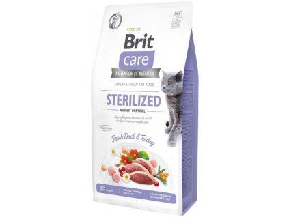 Brit Care Cat Grain Free Sterilized Weight Control 2 kg1